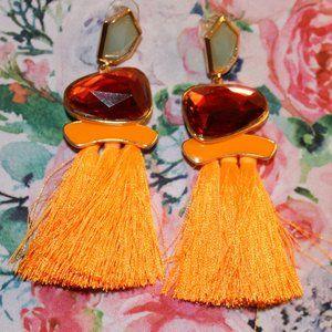 Fringe Orange Earrings